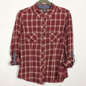 Natural Reflections Plaid Shirt Lightweight Cotton